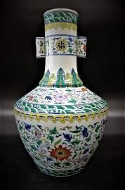 Qing Qainlong Doucai porcelain Vase
