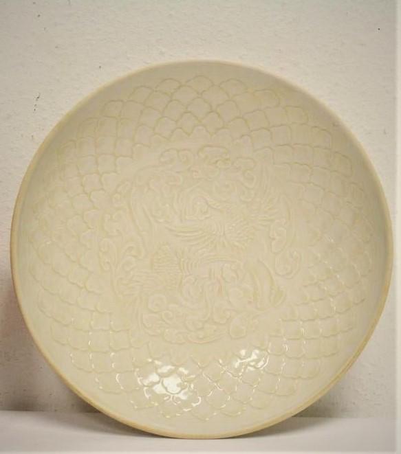 Song Dynasty Ding Kiln White glazed Carving Bowl