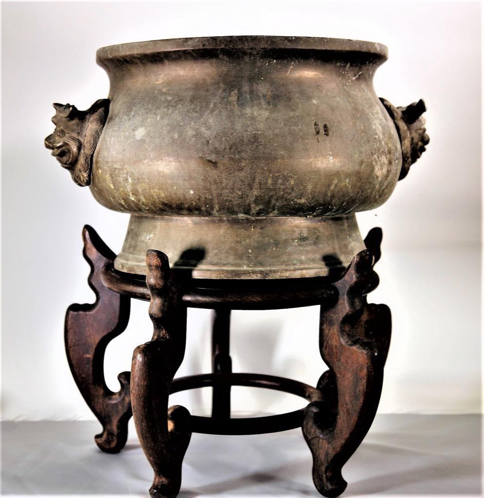 Large Chinese Ancient Bronze Incense Burner