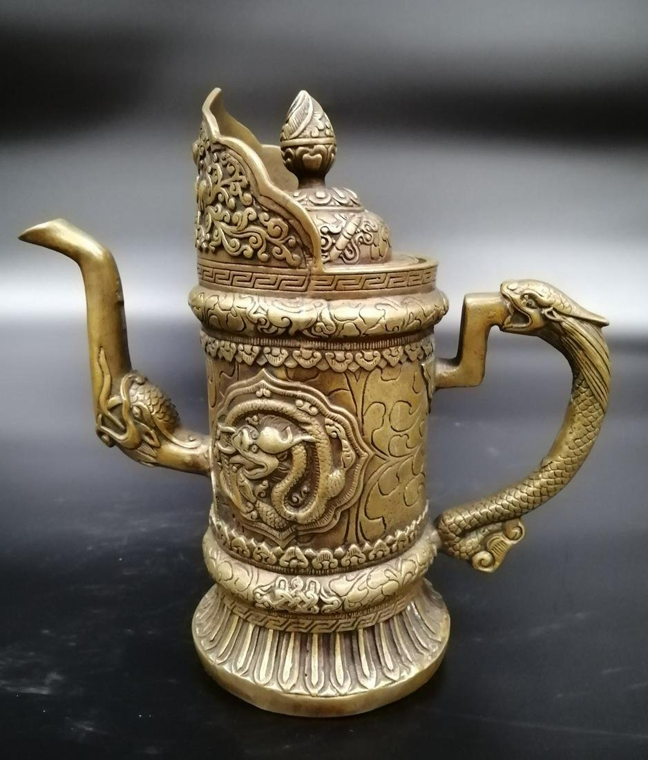 Qing Qianlong Cast bronze Pitcher