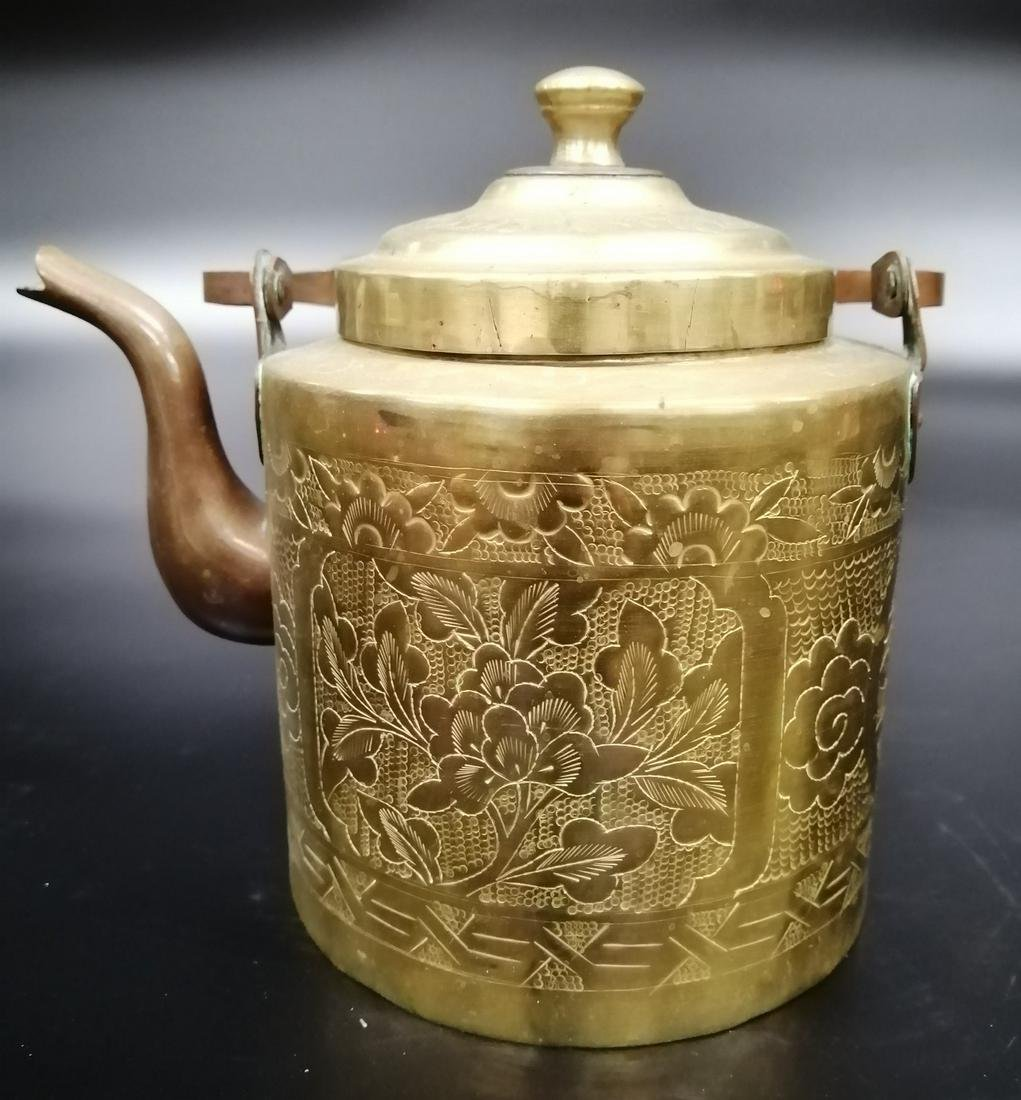 Chinese Cast Bronze Pitcher