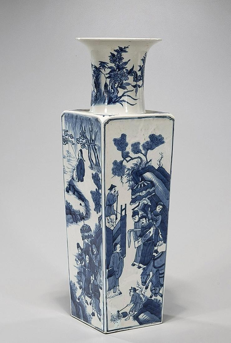Qing Kangxi blue and white Porcelain Vase