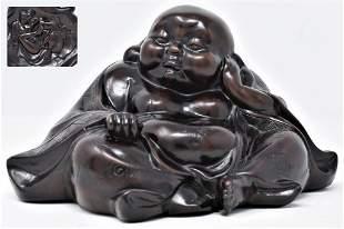 Qing Dynasty ZiTan wood Carving Buddha