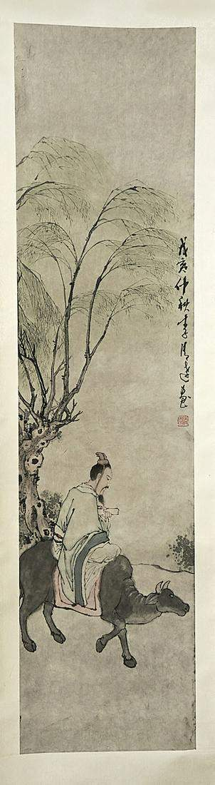 Chinese Hand painting scroll. It is painting that