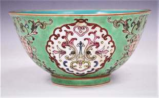 QING QIANLONG ENAMELED PAINTED BOWL