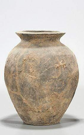 Chinese Eastern Han Dynasty Impressed Pottery Jar