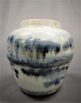Ming Blue & White Porcelain Jar