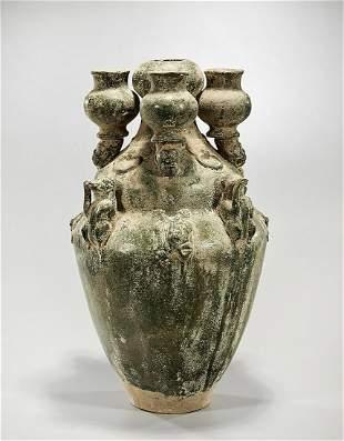 Han ynasty Archaistic Glazed Pottery Vase