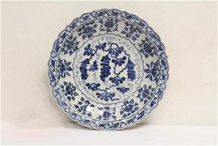 Ming blue and white charger