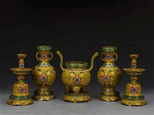Qing Qianlong cloisonne enameled copper tire pinch
