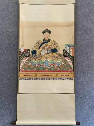 Chinese Scrolled Painting Signed Lang Shining