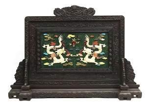 Qianlong Palace Office Style - Jade embedded Baibao