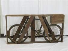 Bicycle still in original crate