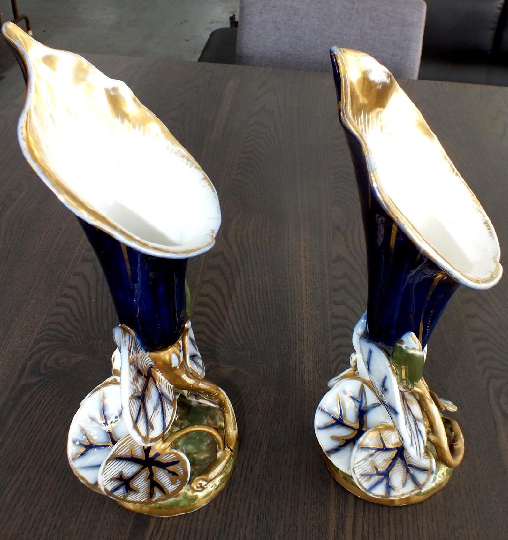 Pair French porcelain vases early 1800's - 8