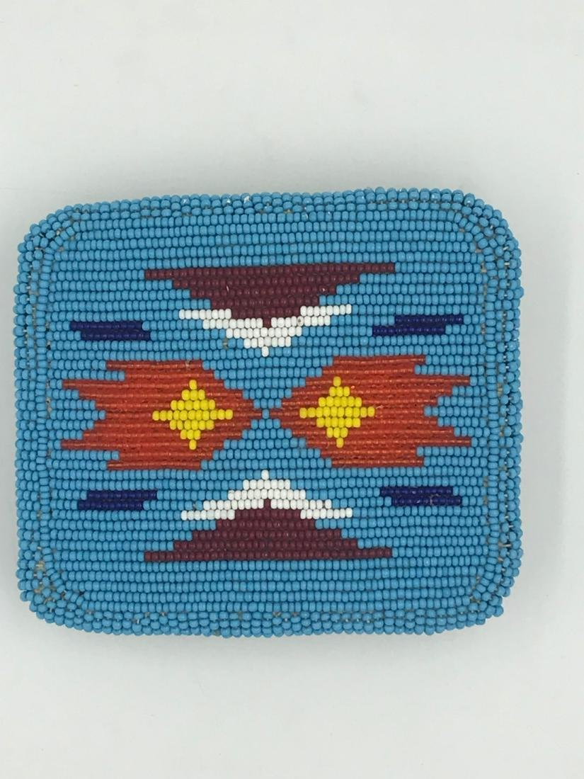 Vintage Sioux Indian Beaded Turquoise, Colorful Belt