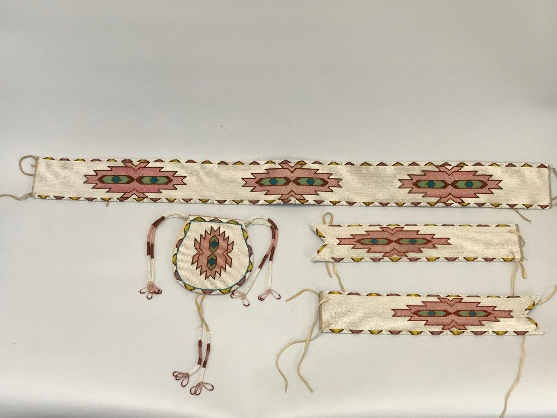 Vintage Sioux Navajo Indian, Matching, Belts-Pouch