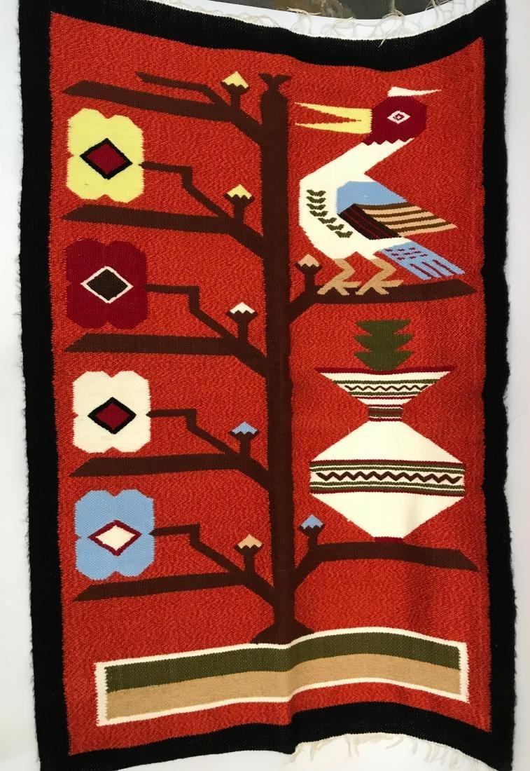 Vintage Navajo Indian, Trading Blanket, Heron Bird made