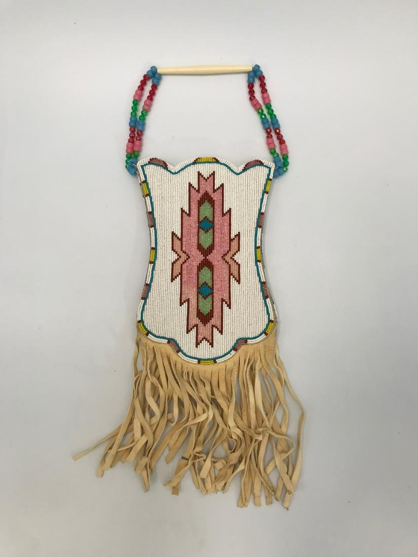 Sioux Native American Pouch & Leg Covers, Deer Skin - 3