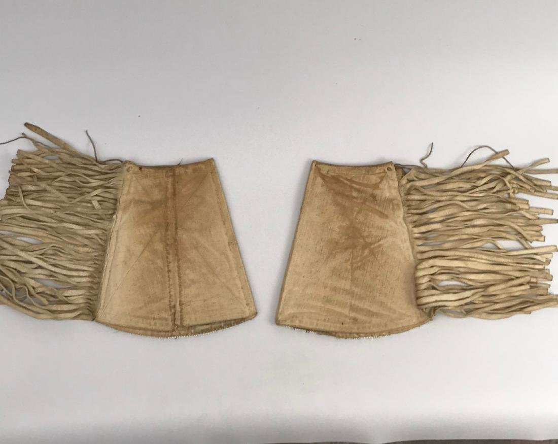 Sioux Native American Pouch & Leg Covers, Deer Skin - 4