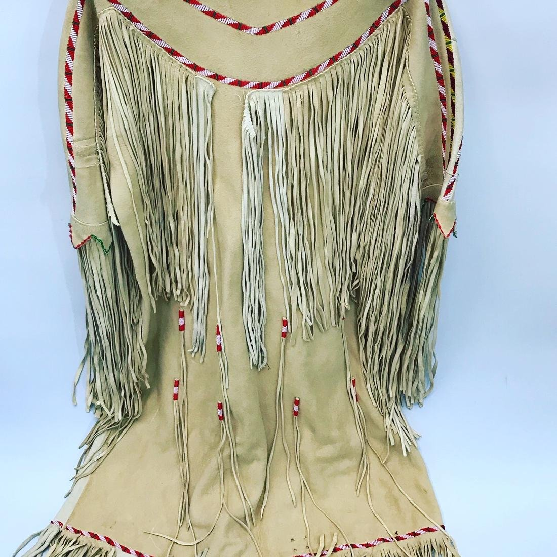 Native American, Ceremonial Dress, Authentic, Leather - 3