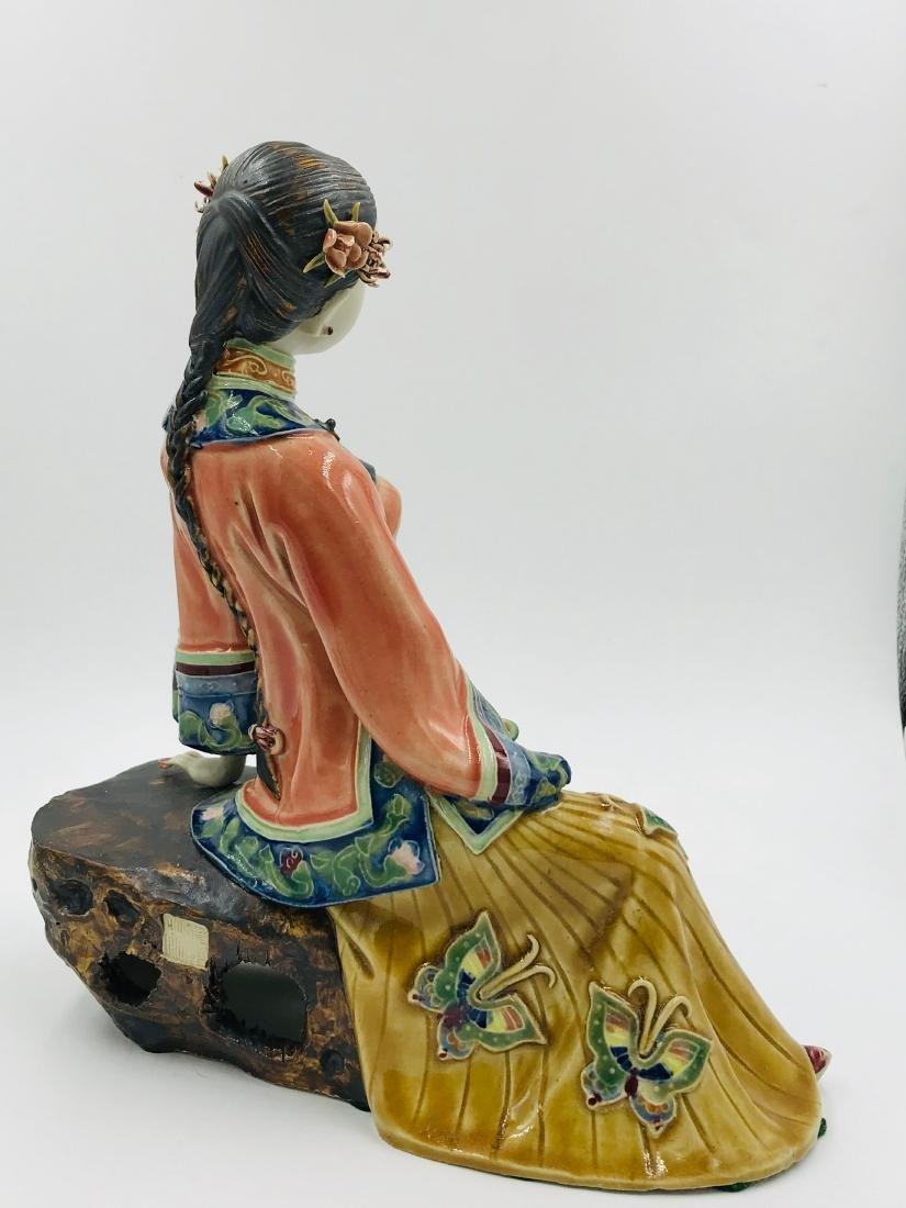 Chinese Sitting Lady, Foshan, China Papered - 3
