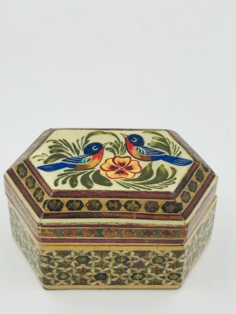 Teak, Vintage Bird, Hand Carved Wooden Box