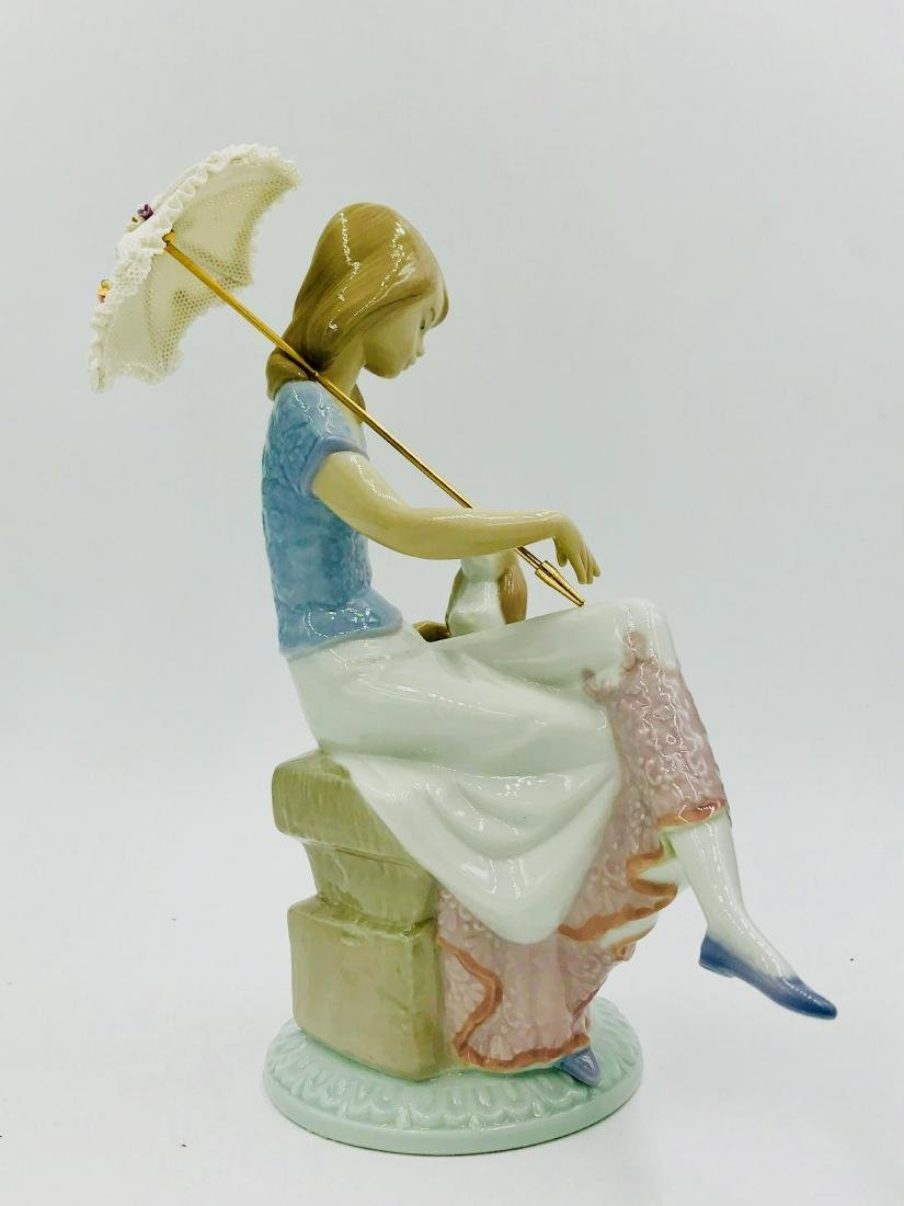 Lladro Girl with Parasol and Dog, Figurine - 3