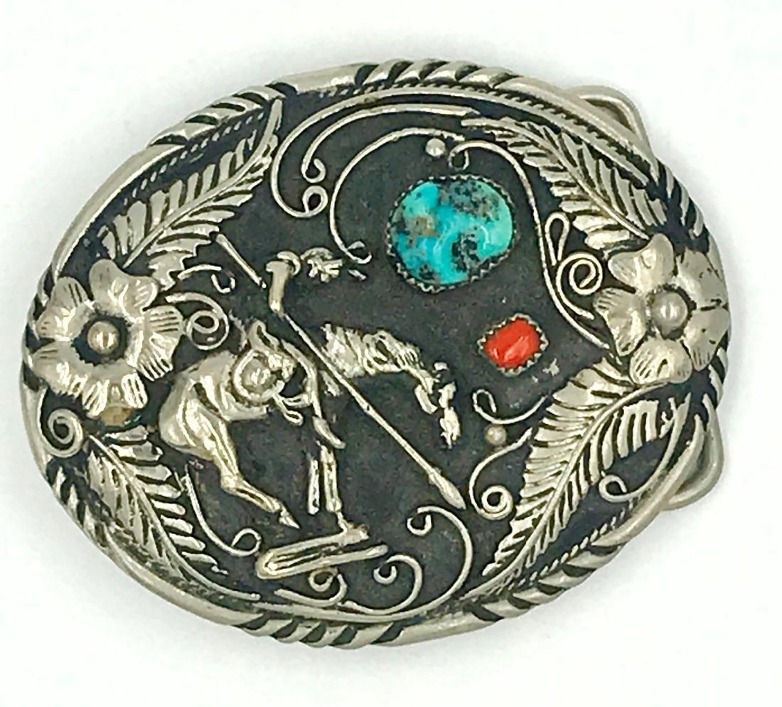 Southwest Native American Hopi Kachina Belt Buckle,