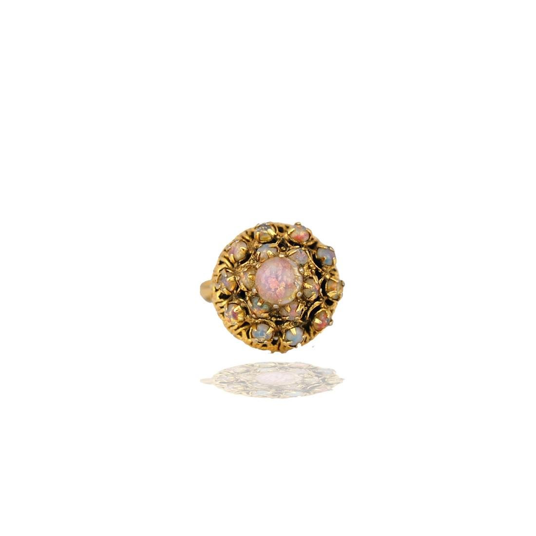 Asian, Temple Ring, Opals set in Ornate Hand-Made