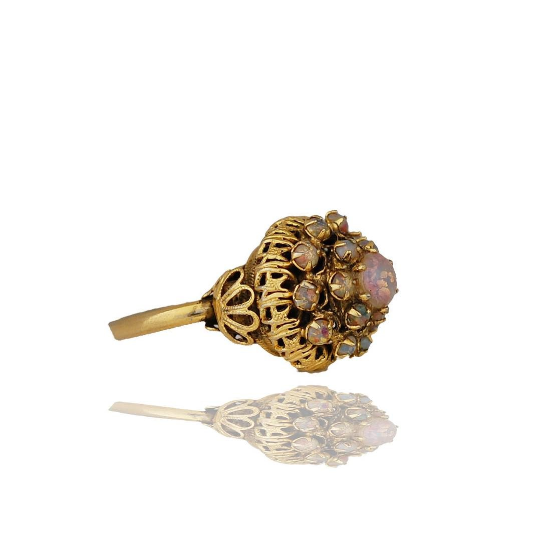Asian, Temple Ring, Opals set in Ornate Hand-Made - 2
