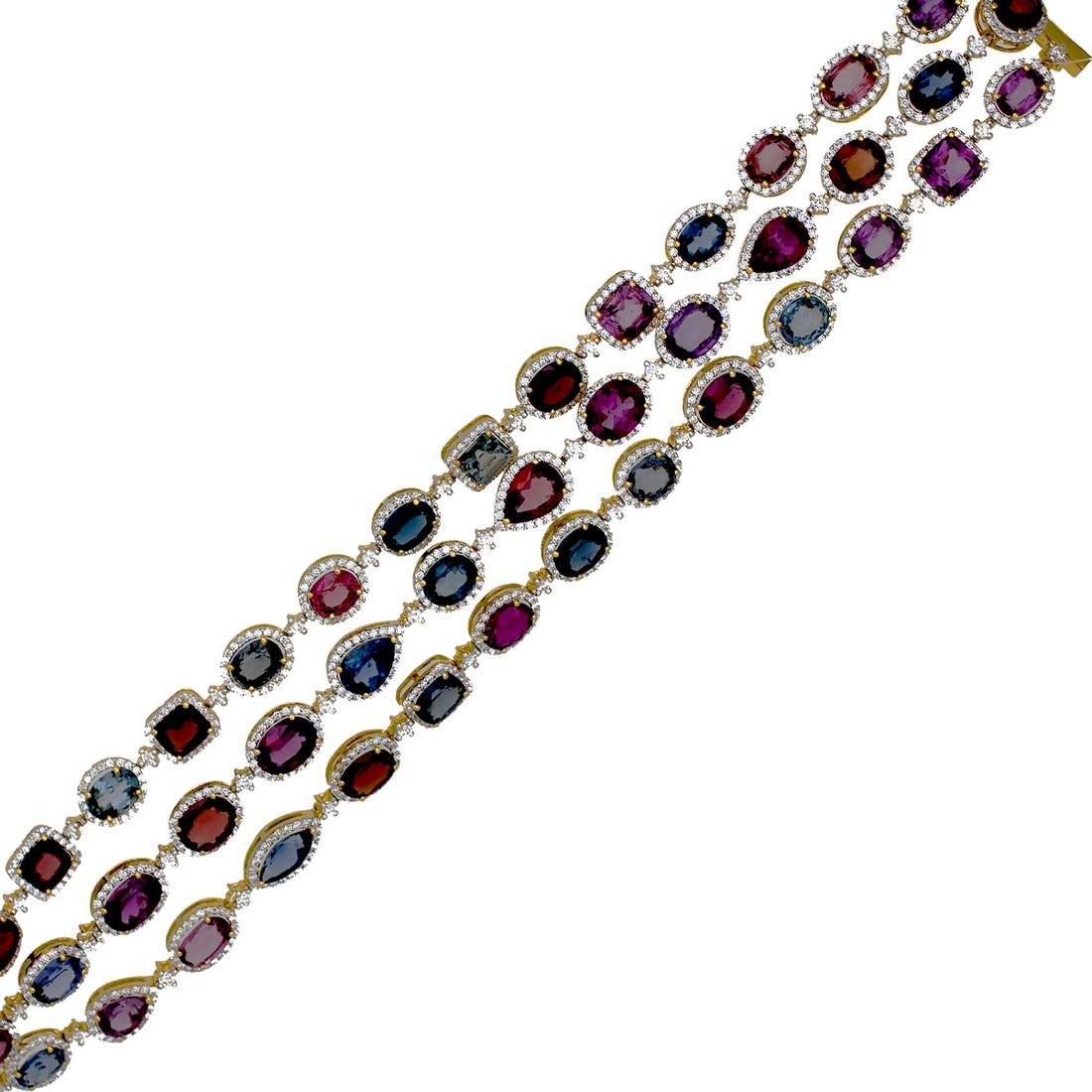 Incredible, Fancy 51.50 Carat Spinel Bracelet, GIA