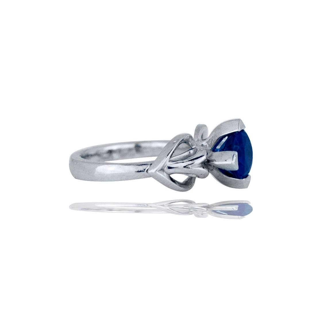 Tanzanite Ring, Geometric Heart Shaped, 14Kt White - 2