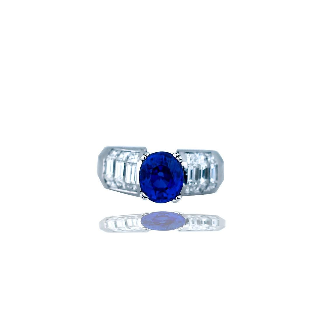 Contemporary, 4.89 CTW, Invisible Diamond Ring with