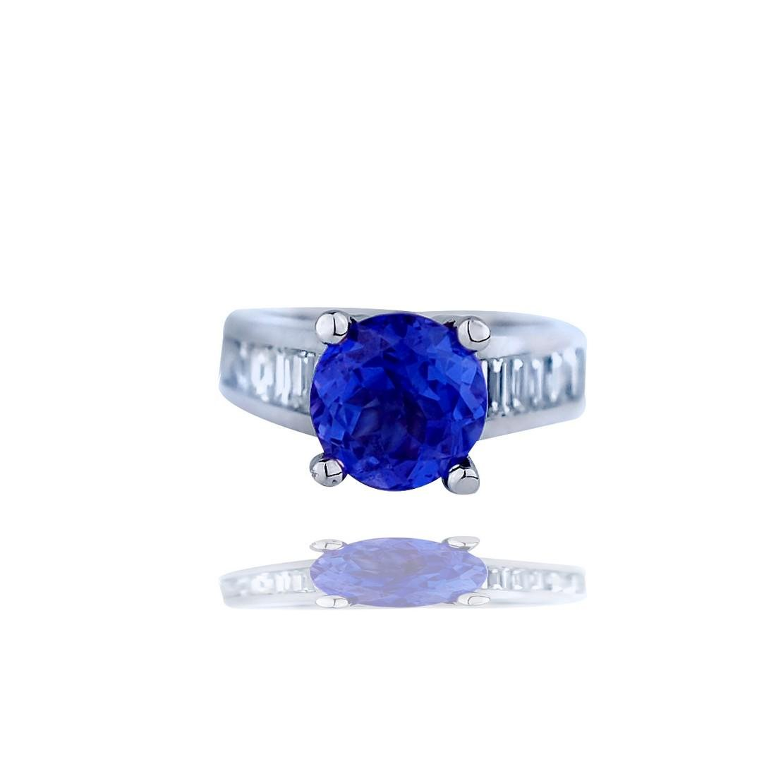 Tanzanite Ring,  5.24 TCW, Channel Styled with Baguette