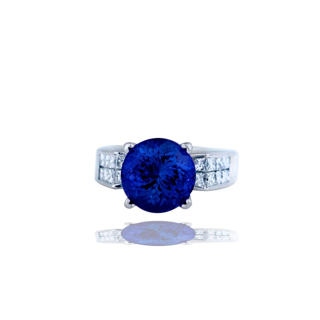 Contemporary,  5.81 TCW, Invisible Diamond Ring with