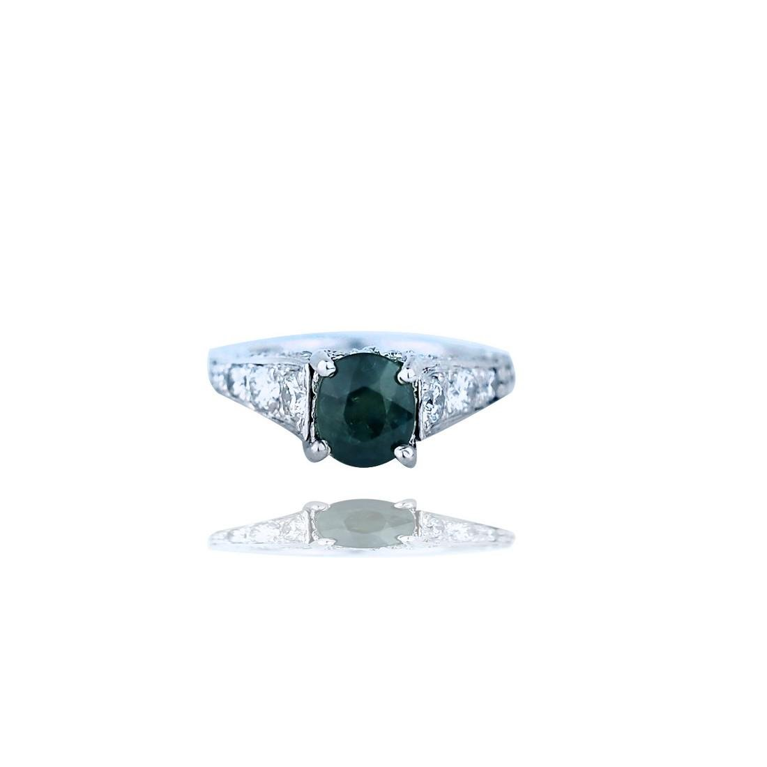 3.54TCW, Platinum Sapphire and Diamond Encrusted
