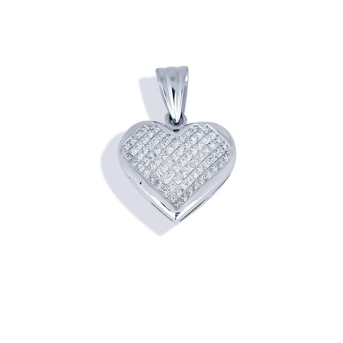 Princess Invisible Set, 3.95 CT. Diamond Heart