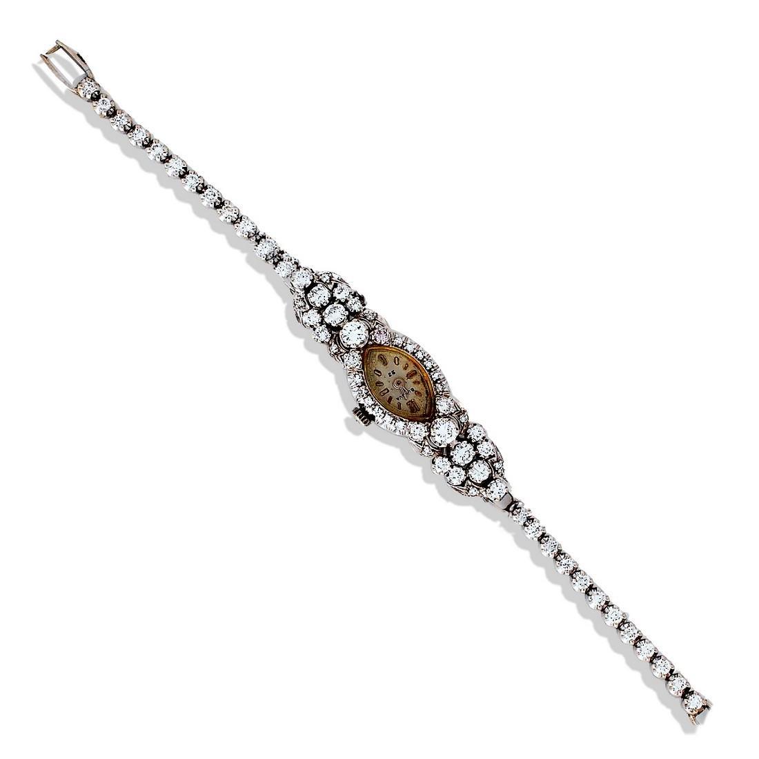 Victorian, Estate 3.40 Carat Diamond Watch, 14 karat