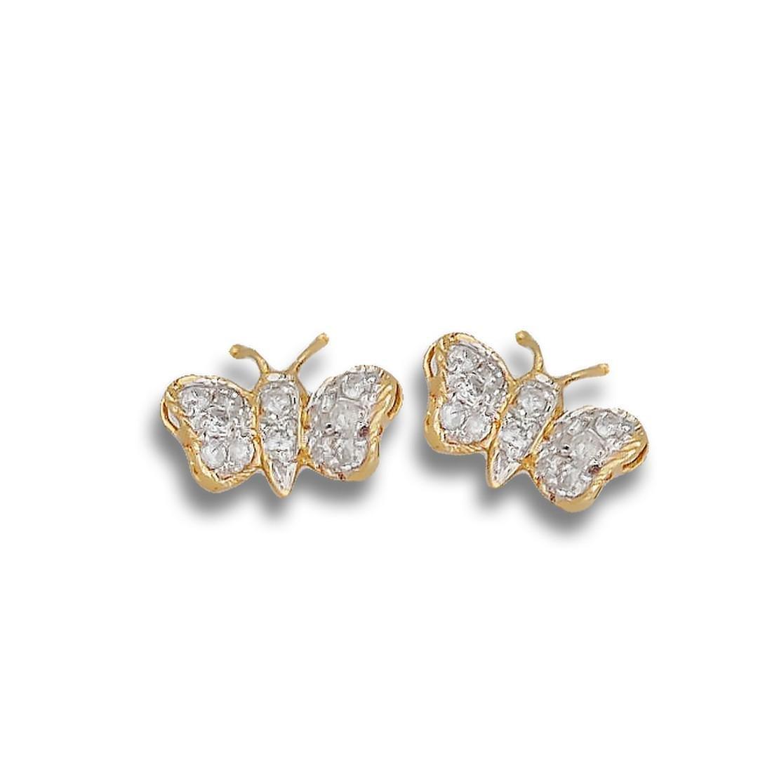Diamond Butterfly, 14 Karat Yellow  Gold, .33 TCW,