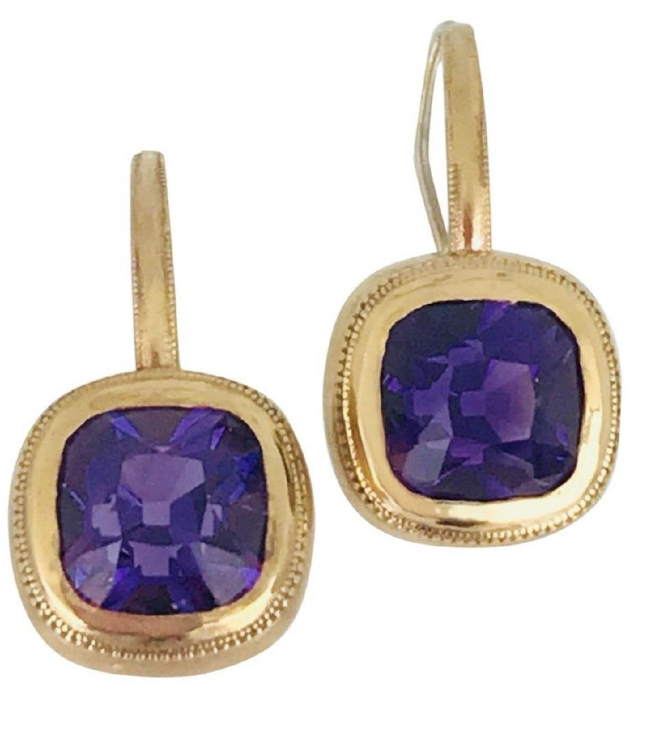 Custom Cut, Brazilian Colored Amethyst Set in Rose
