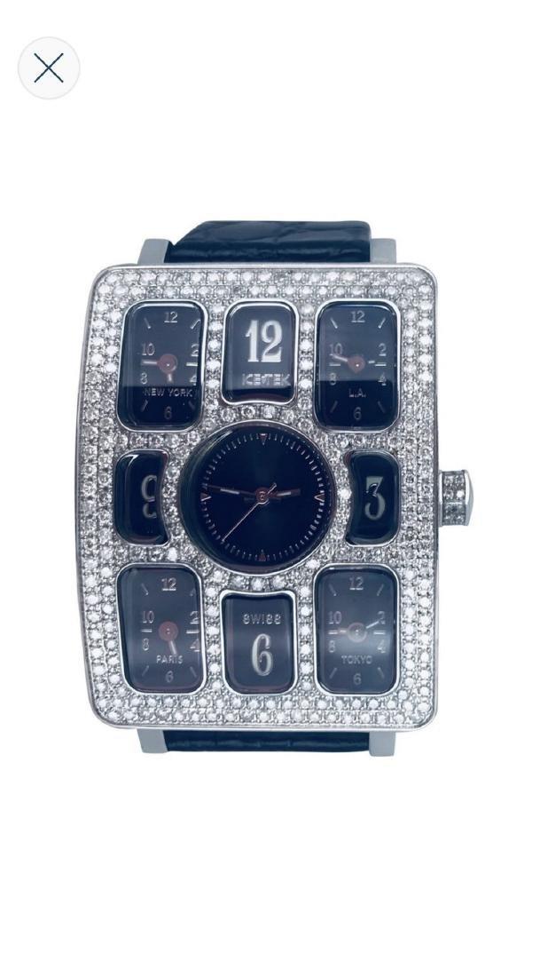 IceTek Quintempo Diamond 5.00 Carat Watch with 5 Time