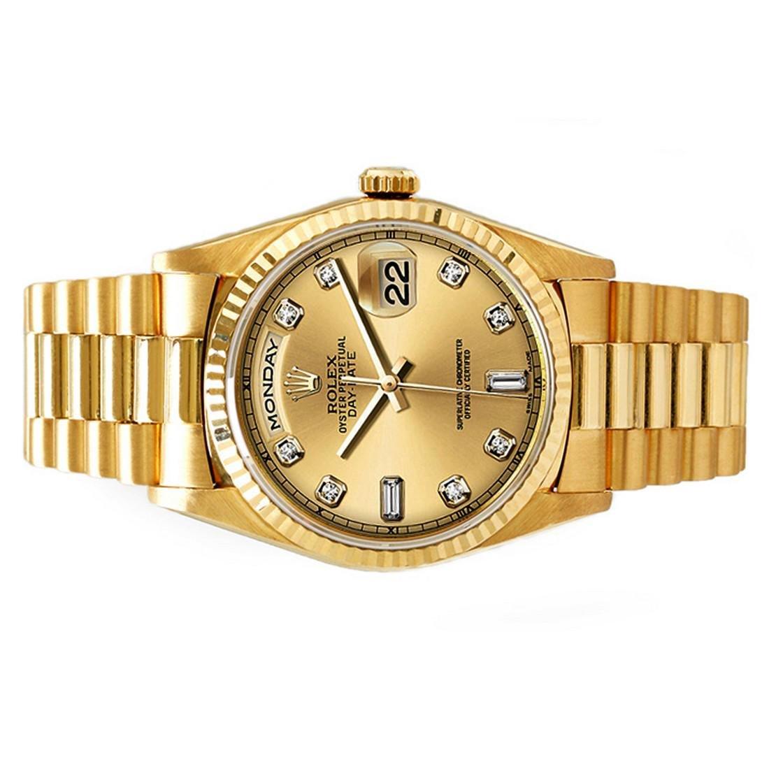 President Day-Date, Rolex with diamond dial, 18 karat