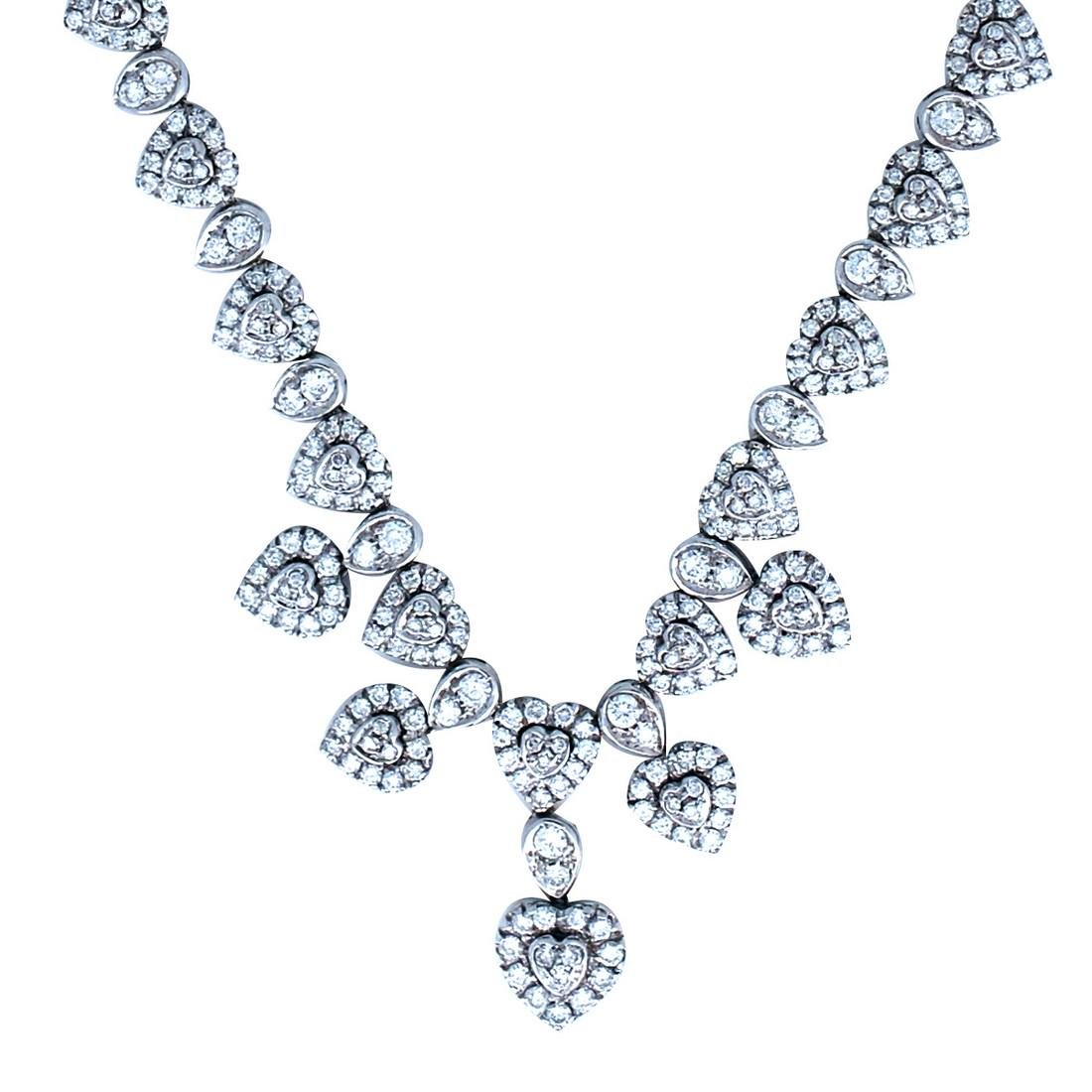 Beautiful, Heart Diamond Necklace Weighing 6.50 Carats, - 2