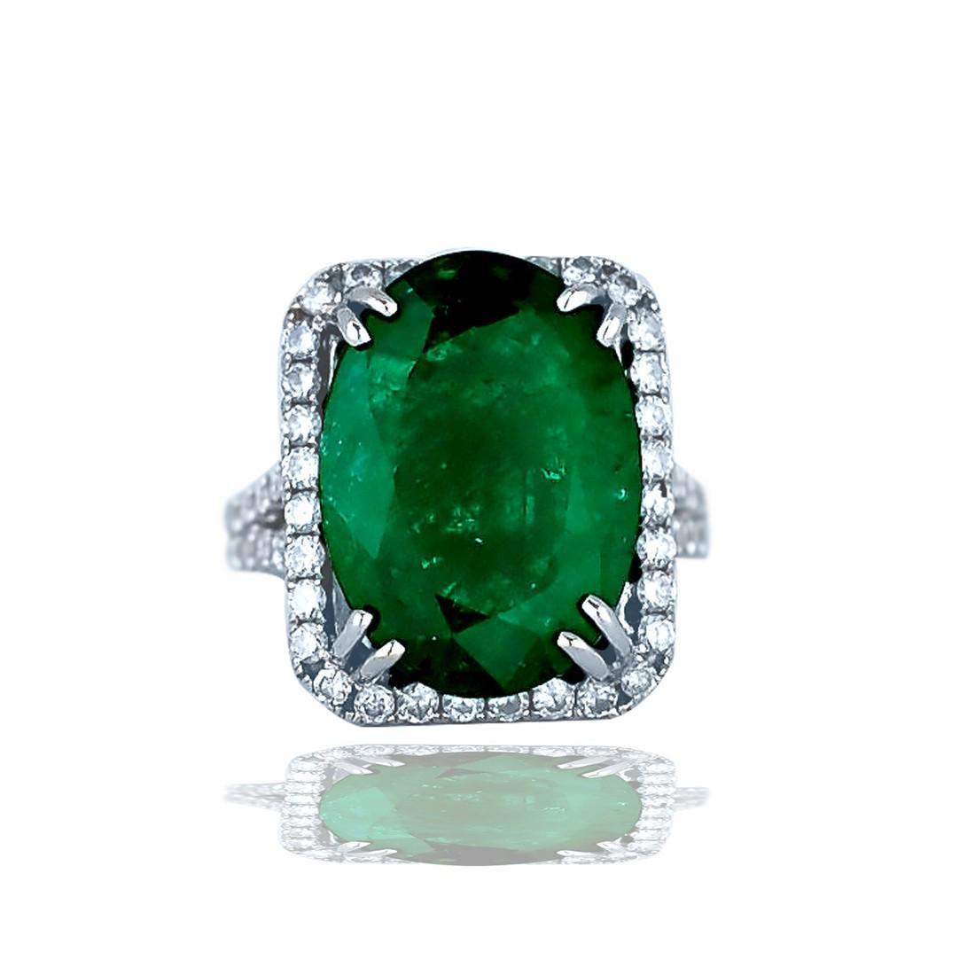 Over 11.5 Ct. Natural Emerald set over 1 carat
