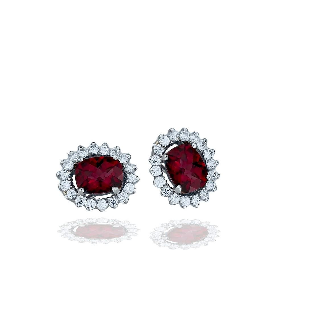 Stunning, Tapestry 5.00 CT Rhodolite and 1.80 CT.