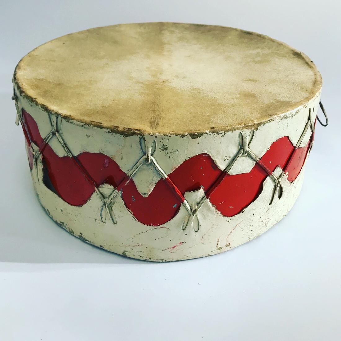 Native American Pow Wow Drum with Red Color, Wave