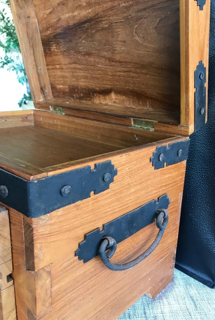 Old Handmade Box, Iron handled 17.5 x 14.5 with dove - 5
