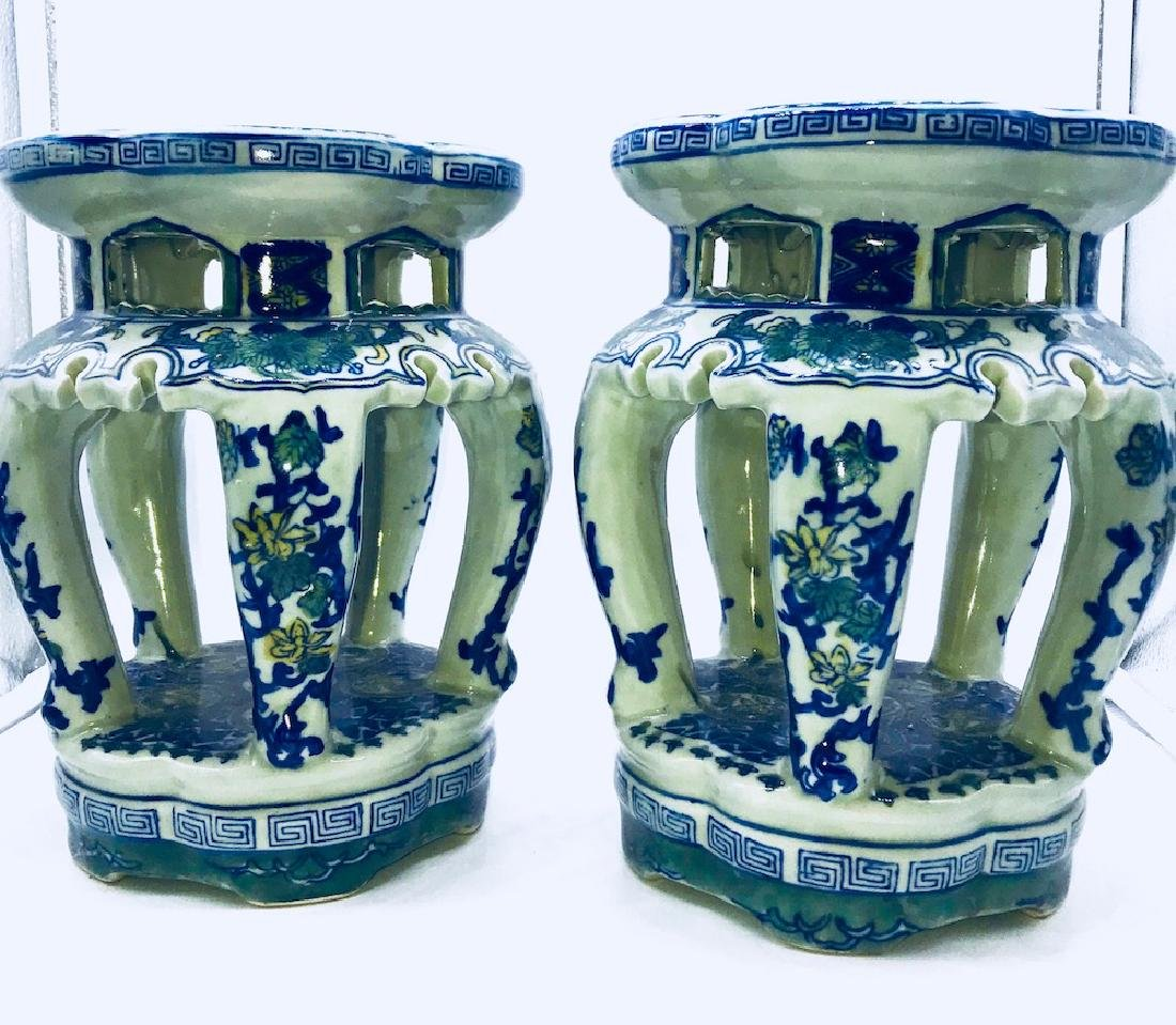 Set of Chinese Porcelain Painted Stands
