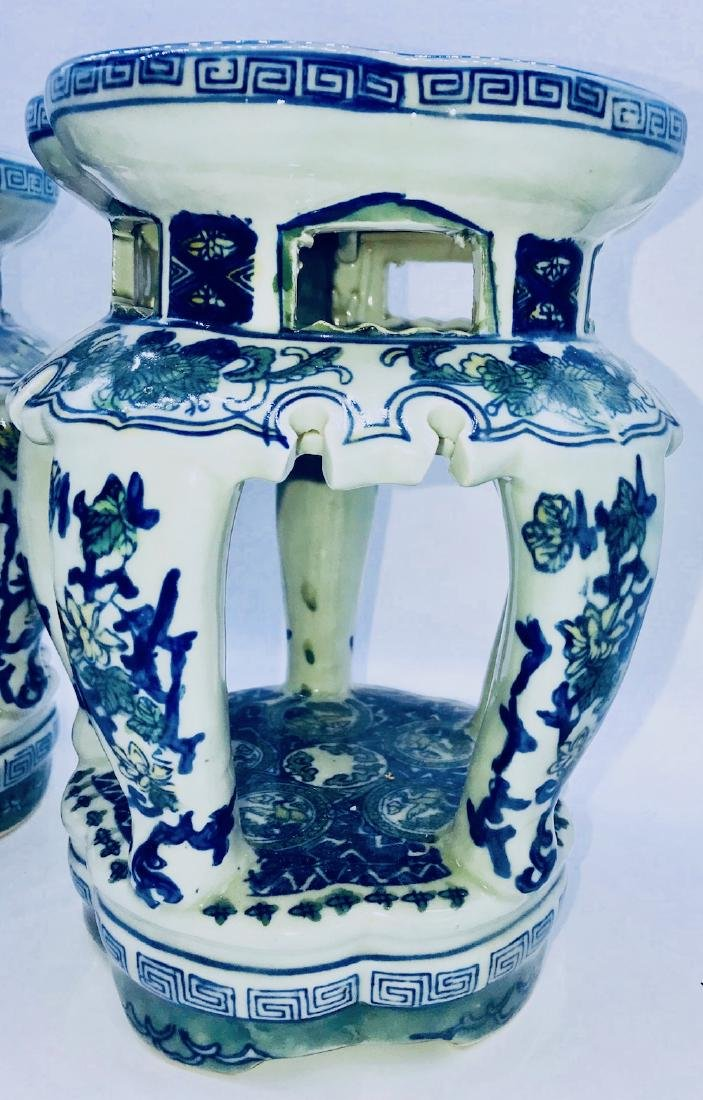 Set of Chinese Porcelain Painted Stands - 2