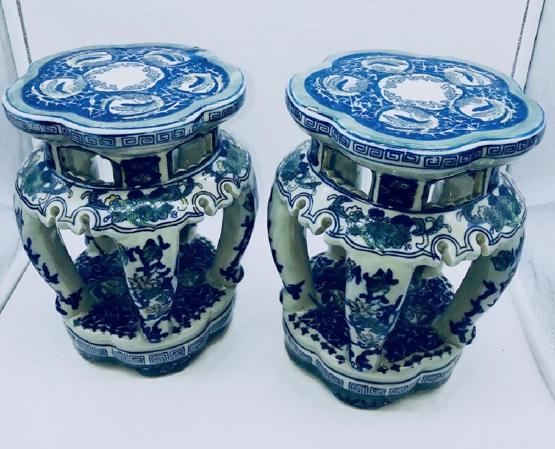 Set of Chinese Porcelain Painted Stands - 3